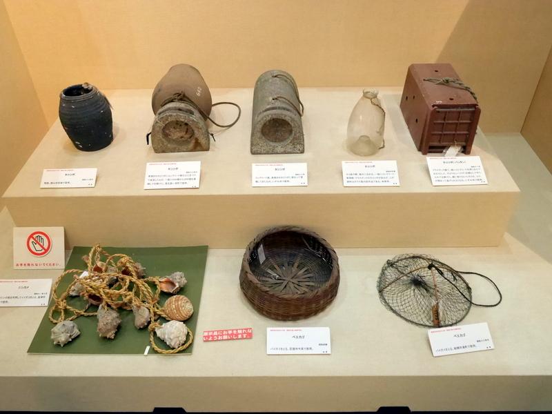 陥穽漁の展示 @渚の博物館