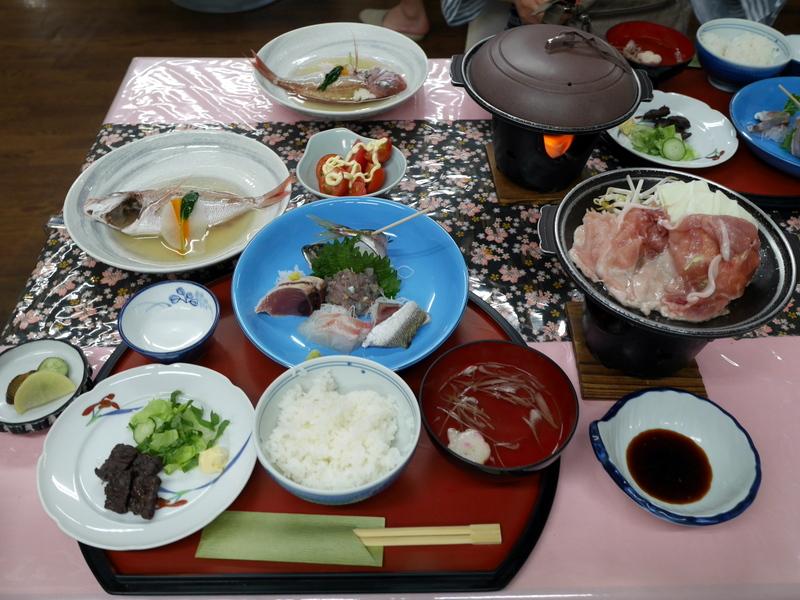 幸田旅館の夕食 @館山