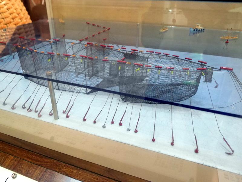落し網のジオラマ @渚の博物館