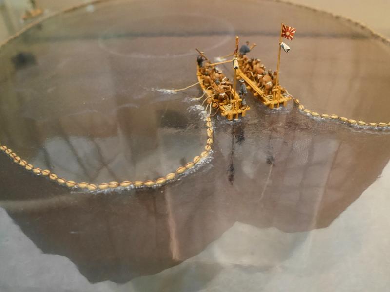 揚繰網のジオラマ @渚の博物館