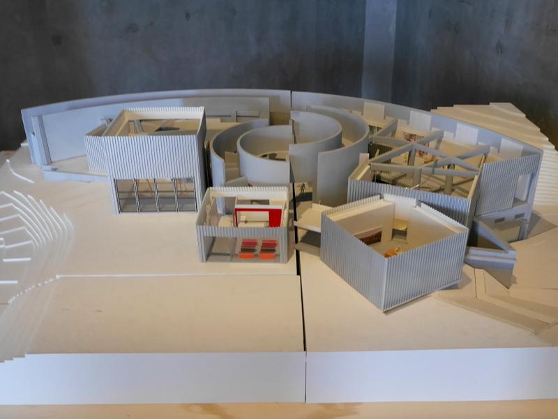 美術館の建築モデル @市原湖畔美術館